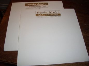 "PAULA ABDUL - My love is for real, 2 st 12"" Promo 1995 Virgin/Captive UK"