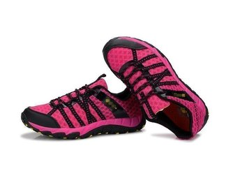 Ladies hiking strl 40 pink summer outdoor walking sneakers skor