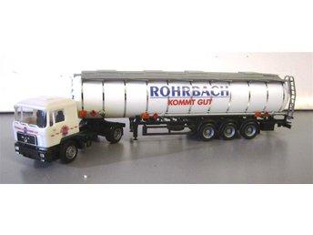Herpa MAN dragbil med tanktrailer Rohrbach.. - Stockholm - Herpa MAN dragbil med tanktrailer Rohrbach.. - Stockholm