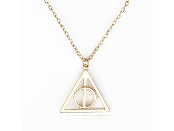 Snabbleverans Halsband Harry Potter dödsreliksymbolen Deathly Hallows guld