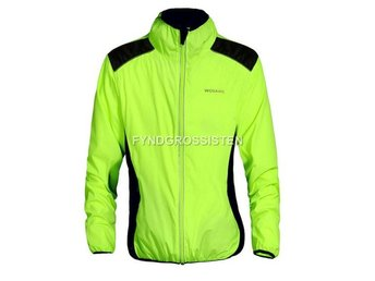 Cykeljacka Outdoor Cycling Jersey Grön Svart Breathable Fri
