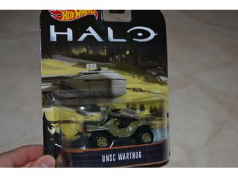 UNSC Warthog HALO ca 1:64 Hot Wheels Presentbox Hög Kvalitet Ny