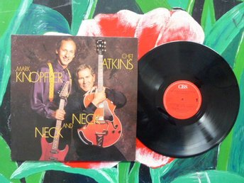 CHET ATKINS AND MARK KNOPFLER, NECK AND NECK, LP, LP-SKIVA, JUST ON TIME, 1990