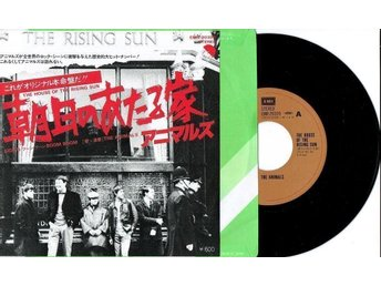 THE ANIMALS 7'' - The house of the rising sun, Japan -77, PS, Excellent - Jönköping - THE ANIMALS 7'' - The house of the rising sun, Japan -77, PS, Excellent - Jönköping
