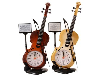 Creative Cute Violin Shape Kids Bedroom Alarm Clock Hem Office Decorations
