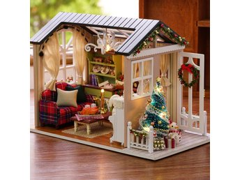 Handgjorda Möbler Doll House Diy Miniatyr Doll House 3D Wooden Dollhouse