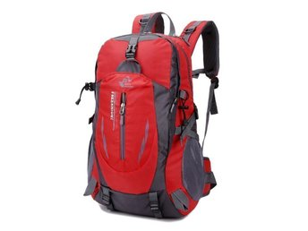 40L Waterproof Sport Travel Backpack Outdoor Hiking Camping ryggsäck -red