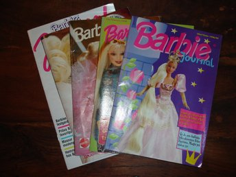 Barbie Journal från 1988, 89/90, 92, 98/99 och 2000