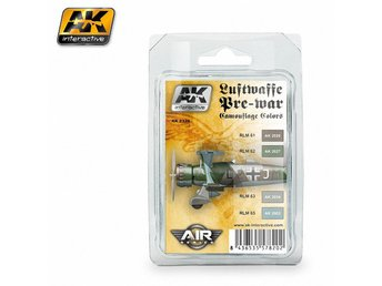 AK Interactive Luftwaffe Pre-War Camouflage Colors Set