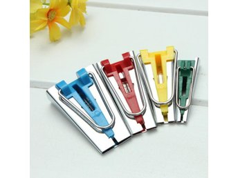 4 Fabric Bias Tape Maker Foot Awl Sewing Tools 6mm/12mm/1...