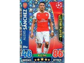 2015-2016 Topps MA Champions League NE #17, Alexis Sánchez, Arsenal - Linköping - 2015-2016 Topps MA Champions League NE #17, Alexis Sánchez, Arsenal - Linköping