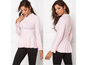 Rib Peplum top -Chiara Forthi-Light Pink-L