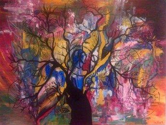 Akryl målad tavla - Värnamo - Akryl målad tavla - Värnamo