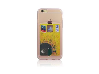 TPU card slot case iPhone 5 Rosa