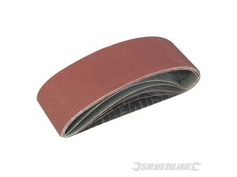 Silverline Sanding Belts 75 x 533mm 5pce Assorted Grit for belt sander