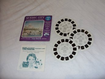 Quebec City Vintage View Master slides Sawyers Inc Rare 1955 USA