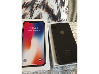 iPhone X svart 64 GB - NY