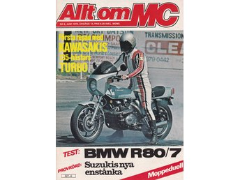 Allt Om Mc 1978-6 BMW R80/7.Kawasaki Z1-R.Moped REX Crescent