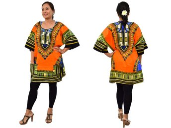 NY Afrikansk Dashiki dress skjorta,Tunika,Dam,Dress,Top,Africa, African Dashiki,