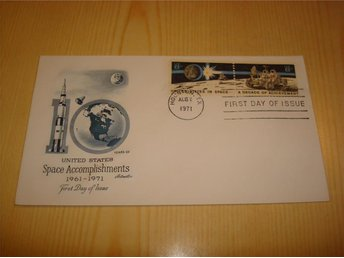 United States Space Accomplishments 1961-1971 USA förstadagsbrev FDC