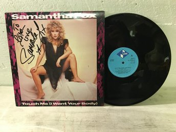 "Samantha Fox - 12"" Touch Me(I Want Your Body) AUTOGRAF !!!!!"