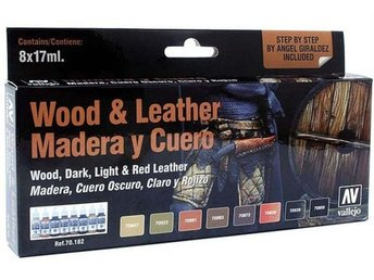 Vallejo 70182 Wood & Leather, 8 Color Set-17 ml.