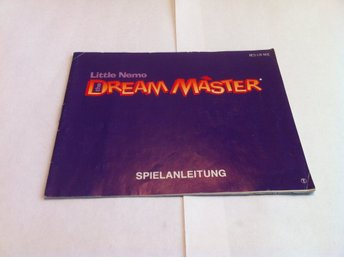 NES: Manualer: Little Nemo: Dream Master (End. manual -Tysk)
