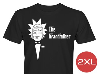Rick And Morty The Grandfather T-Shirt Tröja Rolig Tshirt med tryck Svart HERR 2