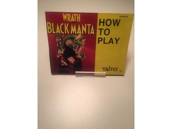 Nintendo NES Manual Wrath Of The Black Manta SCN - København ø - Nintendo NES Manual Wrath Of The Black Manta SCN - København ø