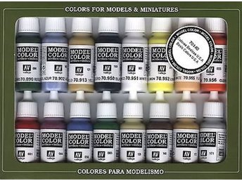 Vallejo 70140 Model color set: USA army basics (16x17ml)