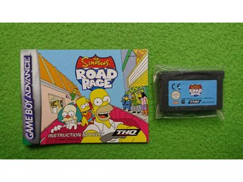 Simpsons Road Rage Kassett + Manual GBA Gameboy Advance Nintendo GBA