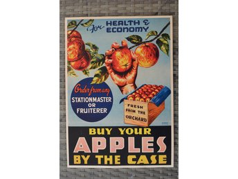 Buy Your Apples by the Case Äldre Reklam Äpplen Poster Affis
