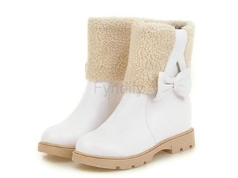 Dam Boots Warm Fur Inside Winter Shoes Woman White 40