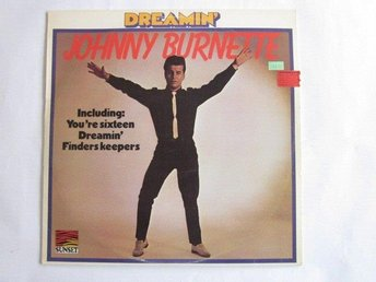 Johnny Burnette -Dreamin LP Sunset rec Sweden 1976