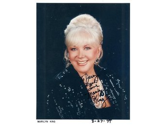 MARILYN KING *THE KING SISTERS* ACTRESS & SINGER AUTOGRAF PHOTOGRAPH FOTO