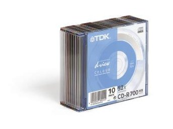TDK CD-R 10-pack 90min Jewelcase