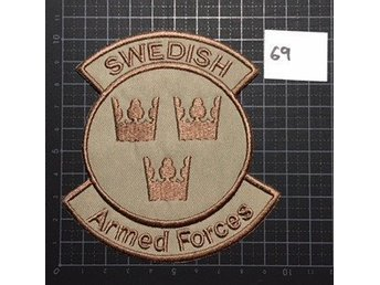 "#69 Tygmärke ""Swedish Armed Forces"" sand"
