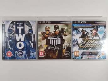 Spelpaket 3 st PS3, FPS Coop Army of Two / Time Crisis