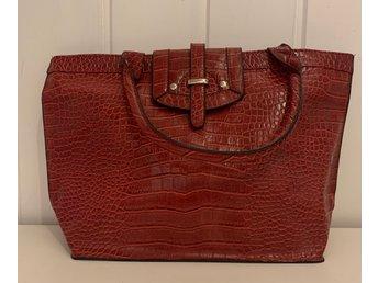rabatt butik hur man köper snygg stor handväska läder
