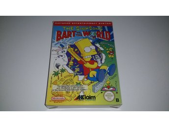 - The Simpsons Bart VS The World SCN Svensksålt Komplett Nes 8Bit -