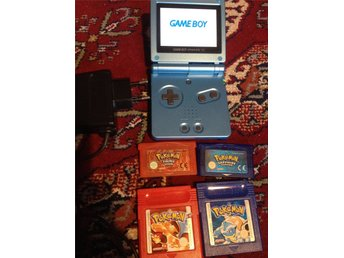 Game Boy Advance SP AGS 101 Backlit version+4 Pokemon Games