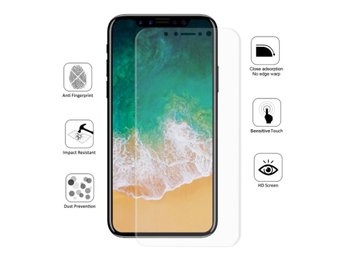 HAT PRINCE iPhone X Extra glas i HD - Genomskinligt