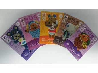 Animal Crossing Amiibo Cards series 2 Nr 151 - 154, 158