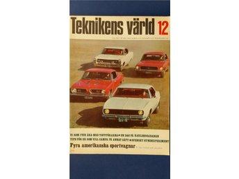 Teknikens Värld nr 12 1967: Honda CB 450, Camaro, Mustang, Barracuda, Marlin - Uppsala - Teknikens Värld nr 12 1967: Honda CB 450, Camaro, Mustang, Barracuda, Marlin - Uppsala