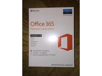 Office 365 personal svensk  för PC Mac