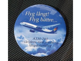 FLYG - Badge/knapp Premiair Airbus A330-200