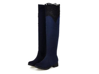 Dam Boots Woman Fashion Autumn Winter Botas Mujer Blue 40