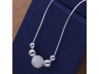 HELT NYA!!! SILVER HALSBAND 925 silver BEADS CLASSIC