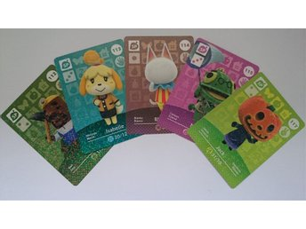 Animal Crossing Amiibo Cards series 2 Nr 112-115, 117