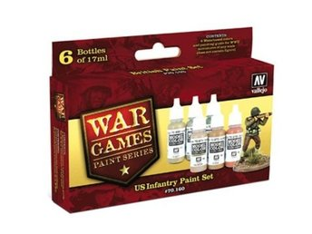 Vallejo 70160 us paint set-6 color set 17 ml.